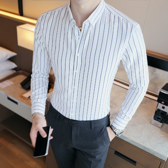 Cheap Business Brand Fashion 2019 Long Sleeve Shirt