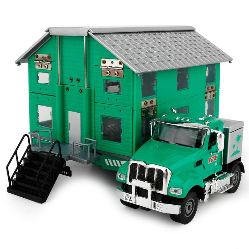 Kids Alloy Die-cast Car Model Deformed Double-decker Luxury Travel RV model Vehicle Toy Vehicle 1:35 Gift