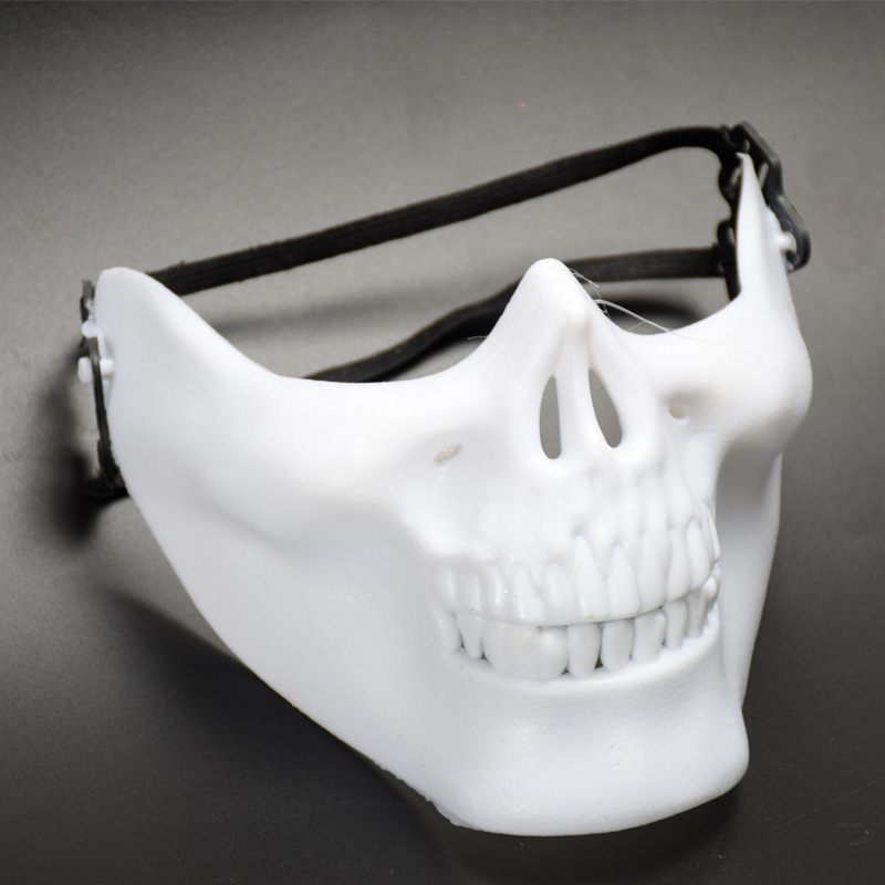 skeleton cool lower half face horror mask halloween supplies gold silver halloween party decorations halloween party