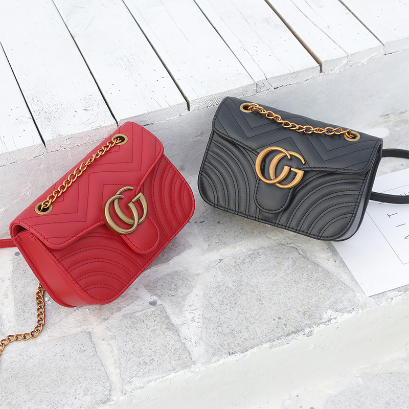 2018 Pu Leather Women Messenger Bag Ladies Crossbody Bag Chain Trendy Candy Color Small Flap Shopping Handbag
