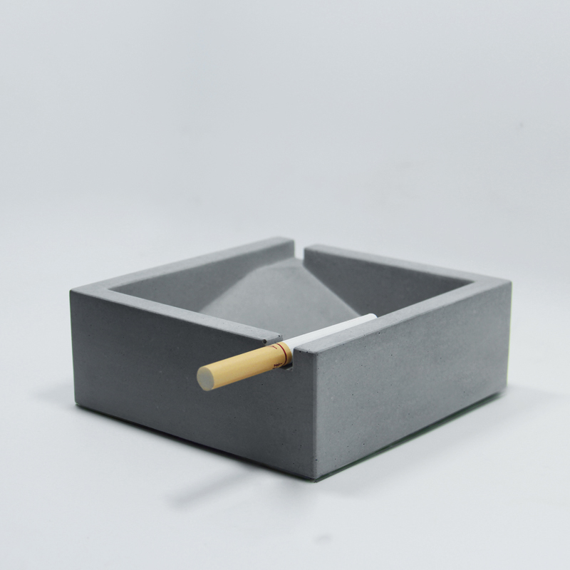 Silica gel silicone mold square cement ashtray molds Concrete mould office caffee bar home decoration