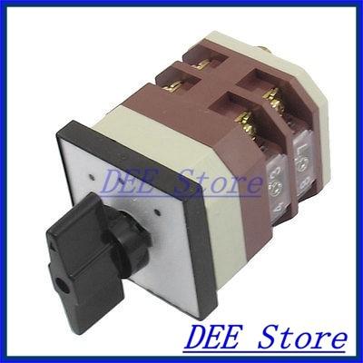 500V 16A 8 Screw Terminals 3 Position Cam Universal Combination Switch 660v ui 10a ith 8 terminals rotary cam universal changeover combination switch