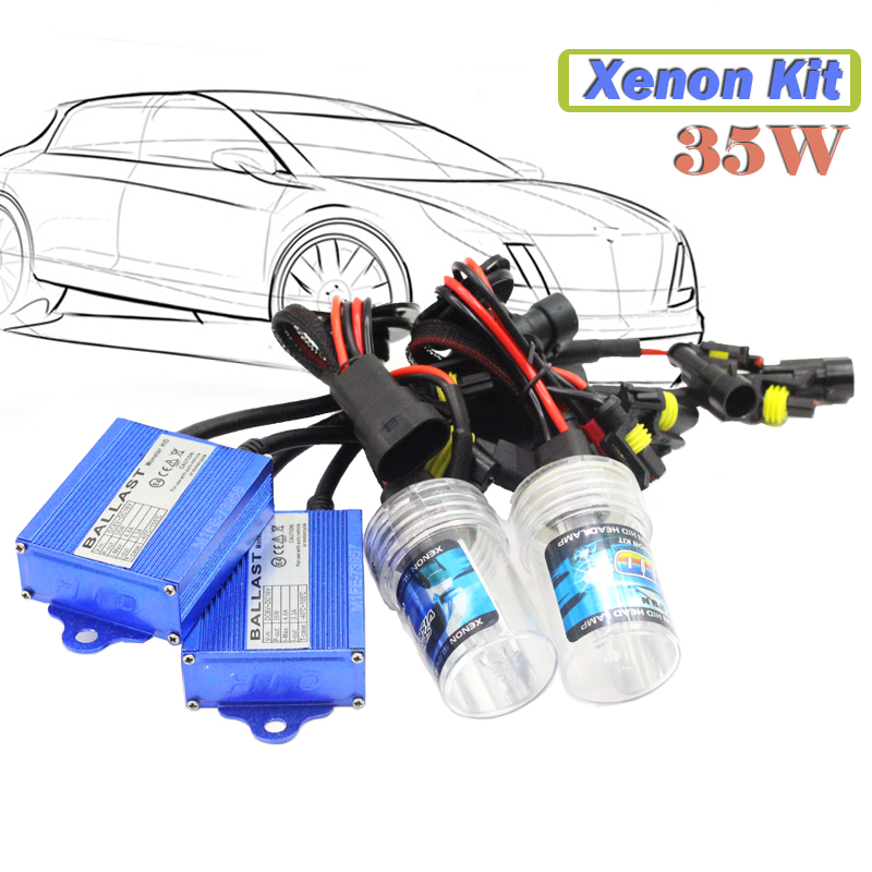 H7 35W Hid Xenon Kit (1 Pair Bulb + 1 Pair Ballast) 3000K-15000K Conversion Car Headlight Fog Lamp Daytime Running Light  55w xenon hid kit aluminum shell ballast bulb 3000k 15000k car conversion headlight head light for is250 2006 2013