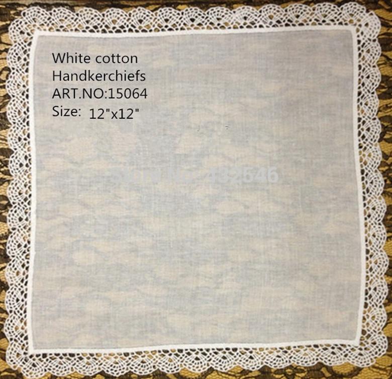 48PCS/lot Fashion Women Handkerchiefs 12x12