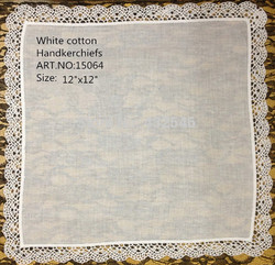 48PCS/lot Fashion Women Handkerchiefs 12x12 Soft 100%cotton Wedding Handkerchief Embroudered Lace Edges Hankies Hanky For Bride