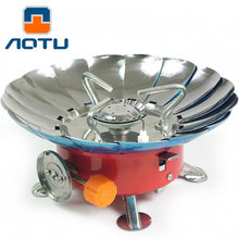 Heat collection Windproof  Lotus style  Stove Portable Outdoor Camping Hiking Picnic  Igniter Gas Stoves   Camping Equipment