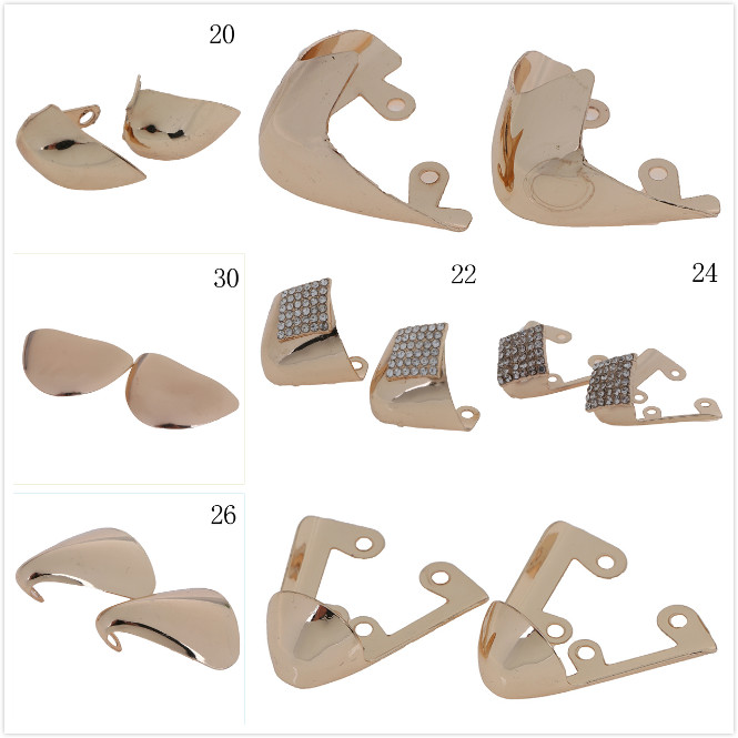 1Pair High Heels Shoe Broken Toe Head Metal Cover Repair Parts Shoes Toe Protection Metal Material Shoes Clips For Decorations