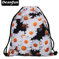 Deanfun 2016 новая мода эсколар рюкзак 3D печать путешествия softback мужчина женщины mochila feminina drawstring bag дейзи