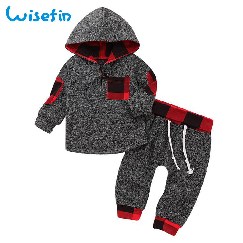 Wisefin Baby Boy Clothes Set Hoodies Cotton Newborn Clothes Plaid Hooded Tops Long Pants Infant Clothing Outfit Winter Set P30Wisefin Baby Boy Clothes Set Hoodies Cotton Newborn Clothes Plaid Hooded Tops Long Pants Infant Clothing Outfit Winter Set P30