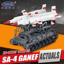Xingbao 06007 1469Pcs Military Series The SA-4 Ganef Set Building Blocks Bricks Children Educational Boy`s Toys Model Gifts