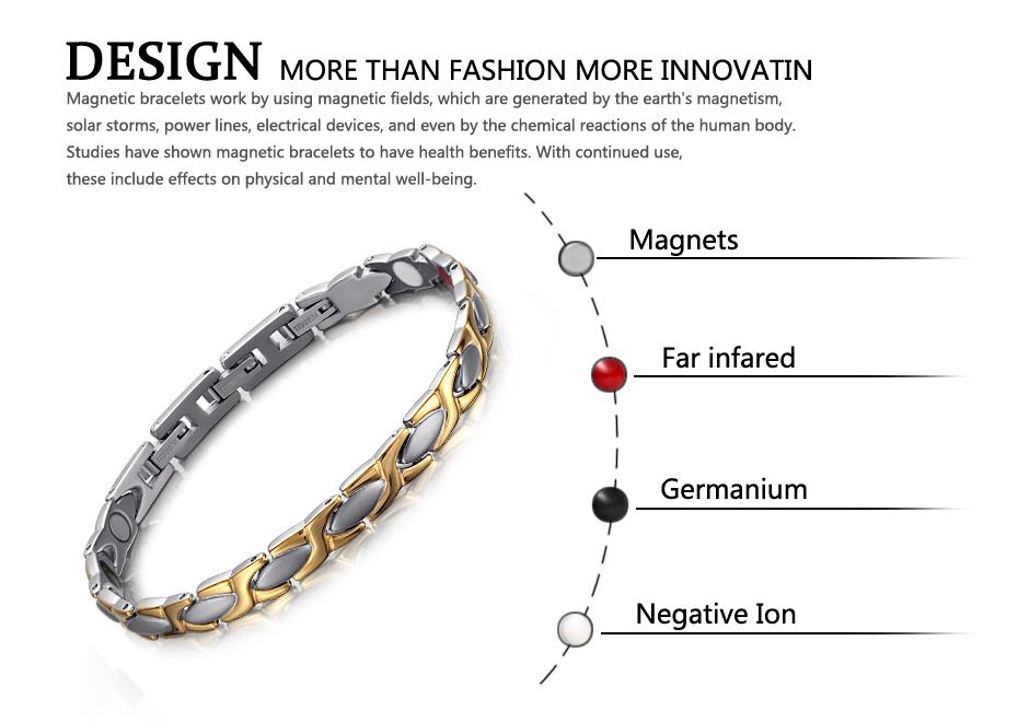 Магнитный браслет welmag с энергией Биомагнитные титановые браслеты