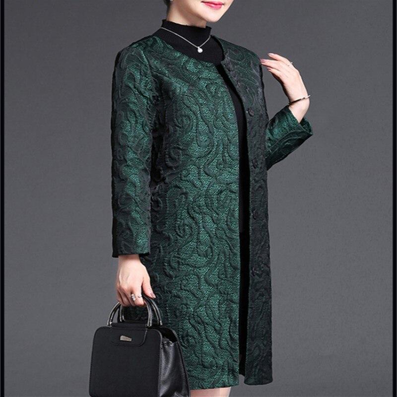 pourpre Vert Trench Arrivent Long Couvert Femmes Mi Printemps Automne D'âge Solide Nouveau Géométrique Bouton Et De Tranchée Vêtements Pour Style qHxA8pnwF