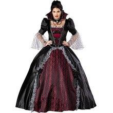 Reina De Los Vampiros disfraz adulto disfraces de halloween para mujeres cosplay sexy negro gothic lolita vestido de fantasía de las mujeres al por mayor