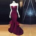 Largo elegante Vestidos de dama de Honor 2016 Vestido de Dama de Borgoña Sweetheart Baratos Vestidos De Madrina Elegante Dama de Honor Vestidos Plisado