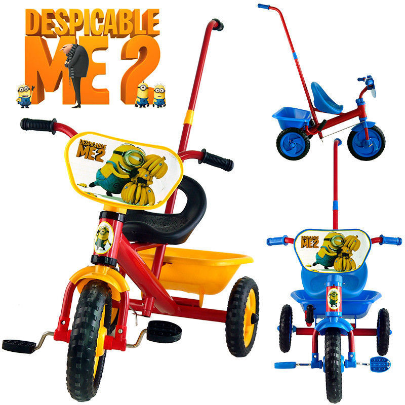 047446689a4 DESPICABLE ME 2 BIKE TRIKE BICYCLE TRICYCLE 3 WHEEL CAR KID TODDLER RIDE ON  BABY TOY GIFT-in Ride On Cars from Toys & Hobbies on Aliexpress.com |  Alibaba ...