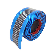 Truck Anti-collision Strip SUV Rear Front Exterior Side Protector Edge Replacement Carbon Fiber Blue