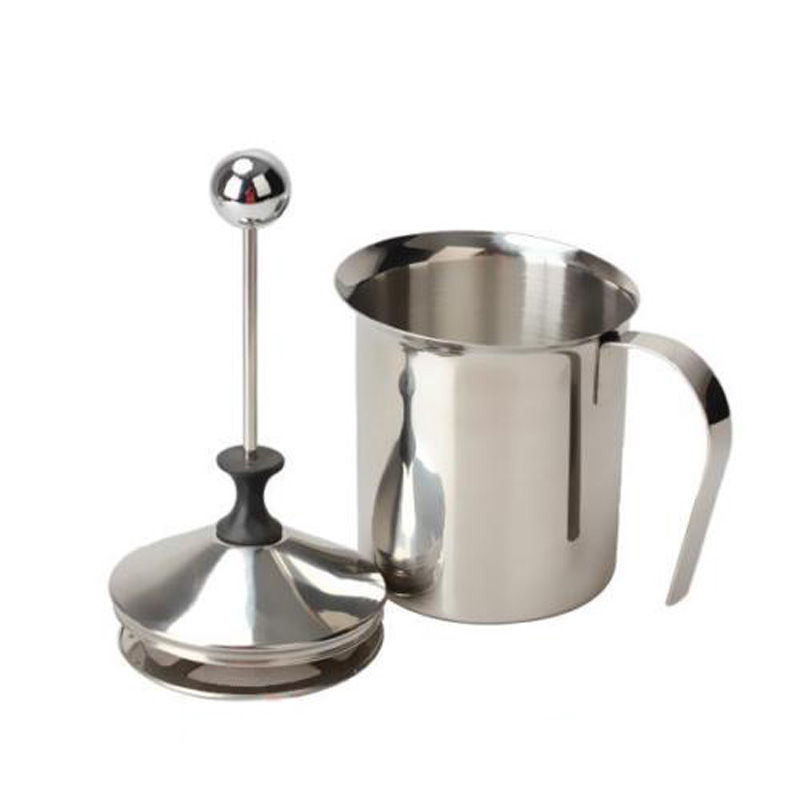 400ml/800ml Stainless Steel Milk Frother Foamer Creamer Double Mesh Coffee Cappuccino