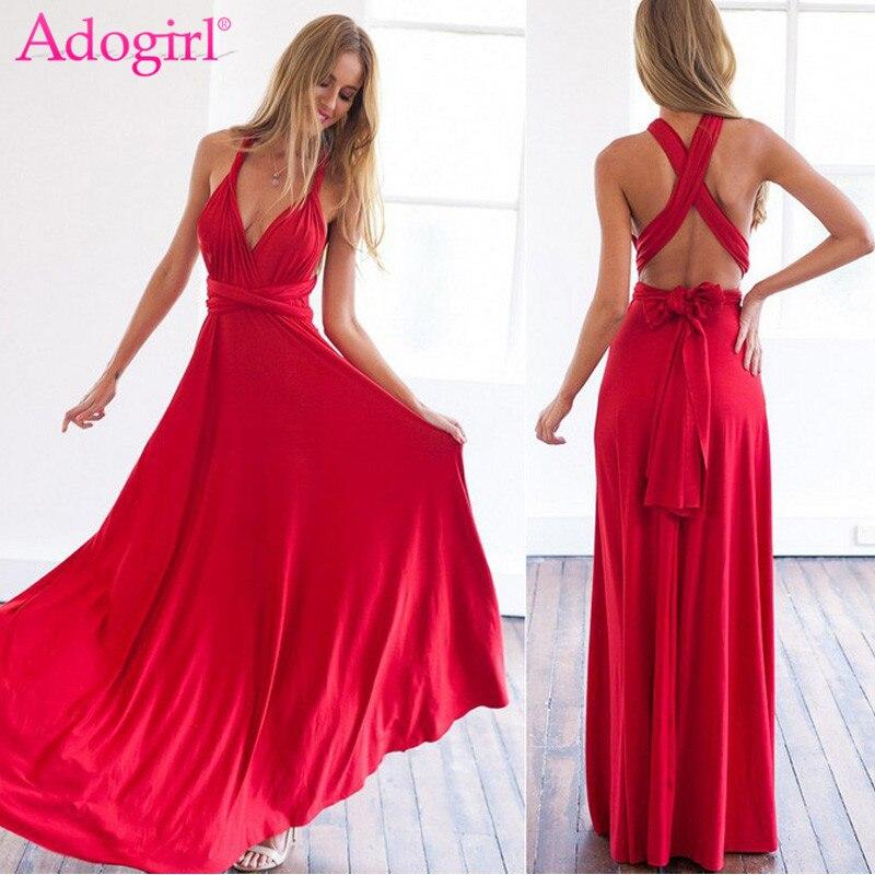 New 2018 Women Multiway Wrap Convertible Boho Maxi Club Dress Sexy Bandage Long Dress Party Bridesmaids Robe Femme Vestidos W3 Women's Clothing