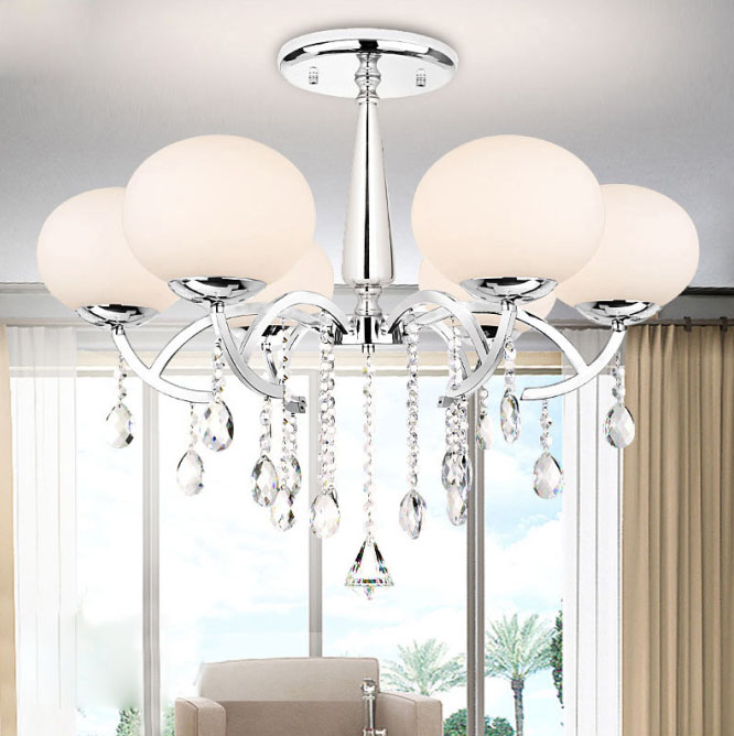 Modern Crystal Chandelier Lighting Luxury Clear Glass Chandeliers Lamp Suspended Light Lustres De Cristal Lamp Hotel LightingModern Crystal Chandelier Lighting Luxury Clear Glass Chandeliers Lamp Suspended Light Lustres De Cristal Lamp Hotel Lighting