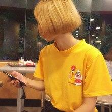 Fashion Tees And Tops 2017 Summer Style Blusas Korea Ulzzang Harajuku Spoof T-shirt For Women Casual Short Sleeve Print Tshirts