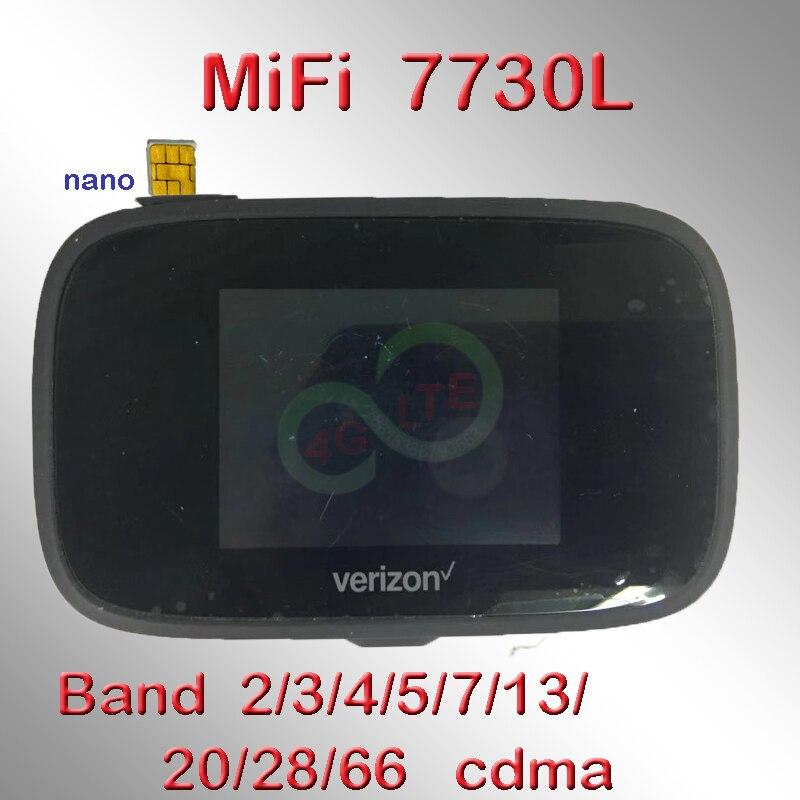 Débloqué Novatel MiFi 7730L Verizon Jetpack MiFi7730L LTE CAT9 450 mbps routeur Mobile WiFi Hotspot usb powerbanK 3400 mah MiFi7730