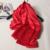 Mulheres Lenços De Seda Xale Vermelho Paixão