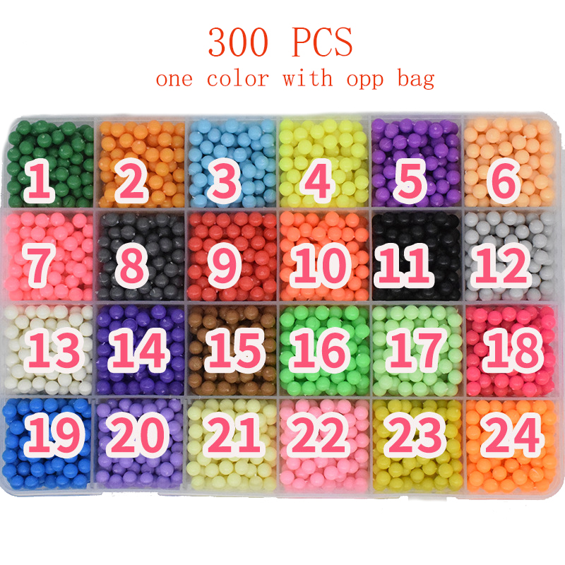 300pcs Pegboard Water Beads Diy Toys For Children Hama Bead Set Fuse Jigsaw Kids Educational Puzzle Girl Boy Beadbond Toy