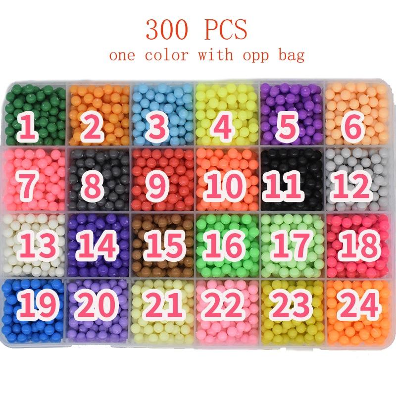 300pcs Pegboard Water Beads Diy Toys For Children Hama Bead Set Fuse Jigsaw Kids Educational Puzzle Girl Boy Beadbond Toy(China)