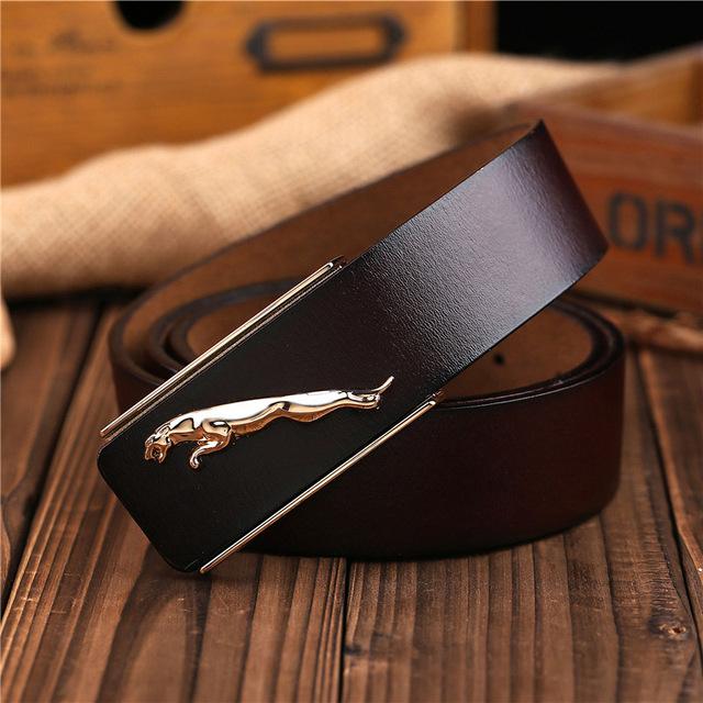 Camada superior Famoso Designer Da Marca Jaguar Mens Cintos de Couro Genuíno de Alta Qualidade Luxo Macho Mulheres Cinto Cowskin Cintura Cinta