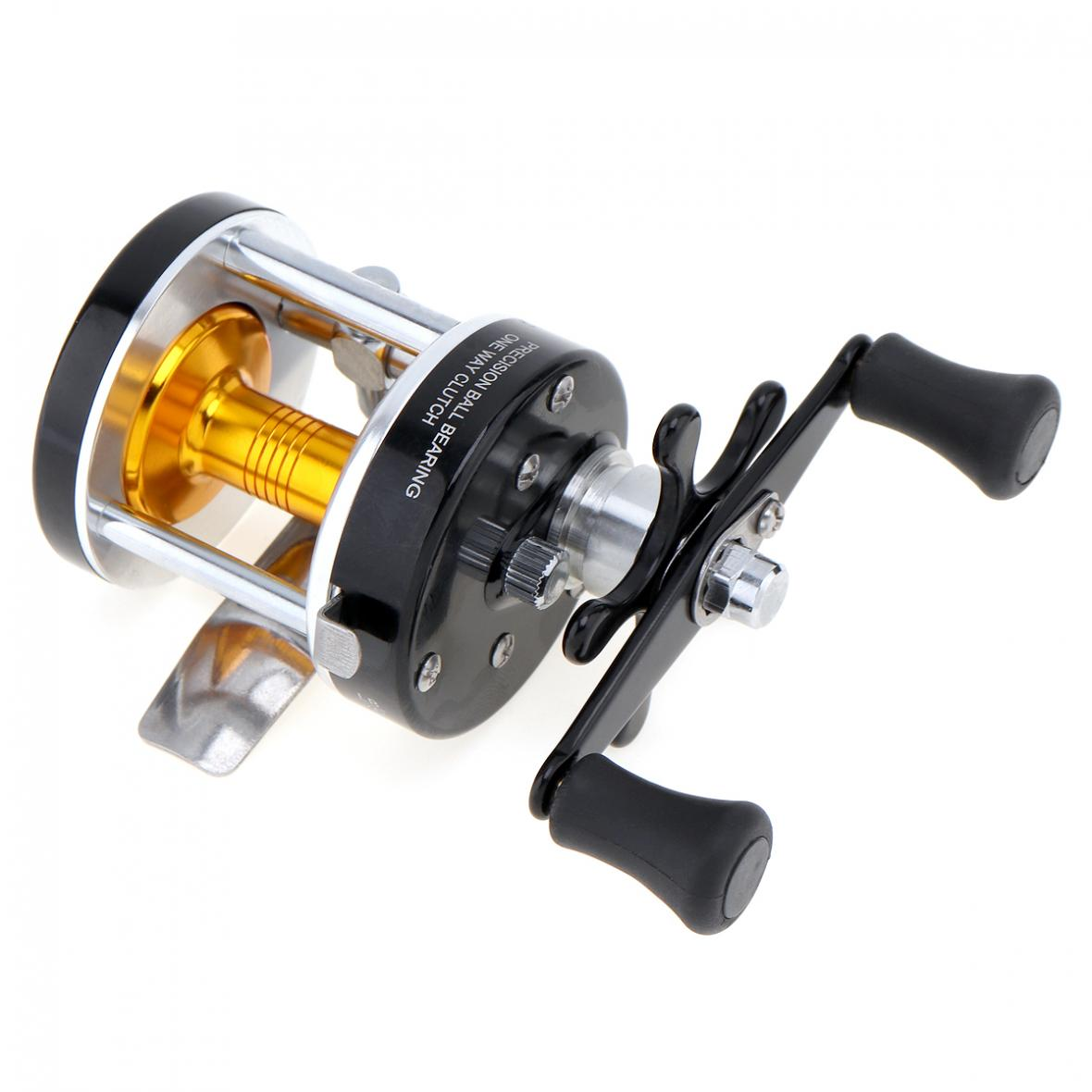 Steel R//F 6+1 Baitcasting Wheel Reel Trolling Fishing Reels Bearing Drum Tool