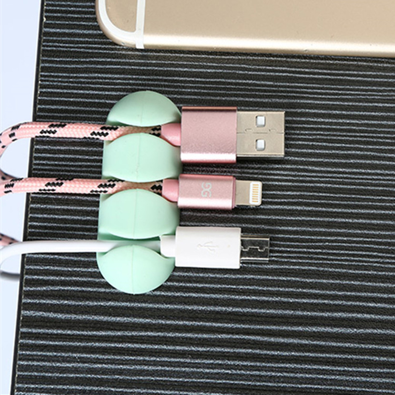 2Pcs Cable Clip Desk Tidy Organizer Adhesive USB Charger Cord Holder Data Cable Winder Clamp Wire Cord Holder Secure Home Gadget