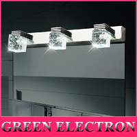 Modern Bathroom Crystal Lights Crystal Wall Lamp 3 Lights LED Bathroom Light Cabinet Mirror Light 3 x 3W AC85V~265V