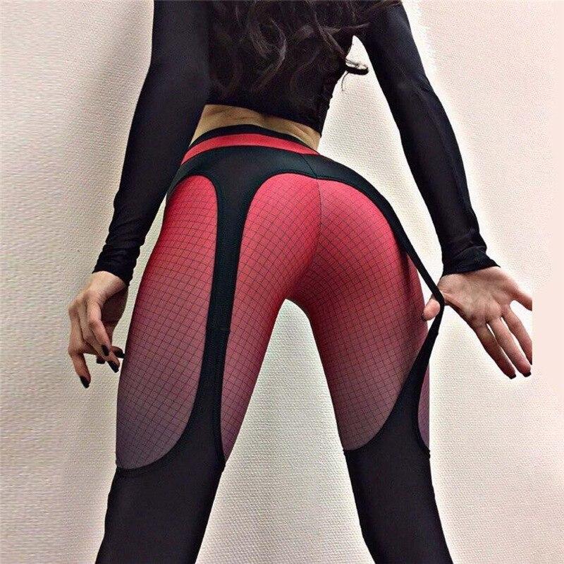 2018 Push Up Leggings Women Patchwork Double Layer Ankle-Length Fitness  Bodybuilding Clothing Roupas De Academia Femininas  Wy*