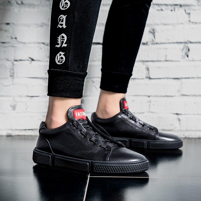Homme Dos Qualidade Alta Couro Preto Hombre Chaussure Mocassins Sneakers Moda Tênis Sapatos Casuais Bege De preto Branco Homens Zapatillas OqrxAOFt