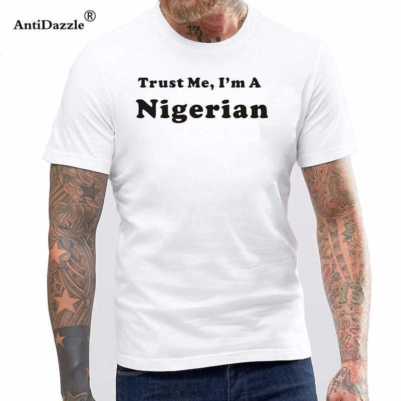 חדש קיץ סגנון תאמין לי אני ניגרי חולצה ניגריה גאווה חג מולד המדינה T חולצה גברים מזדמן קצר שרוול למעלה Tees