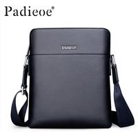 Padieoe Hot Sale Men S Real Cowhide Shoulder Bag Famous Brand Small Crossbody Bag High Quality