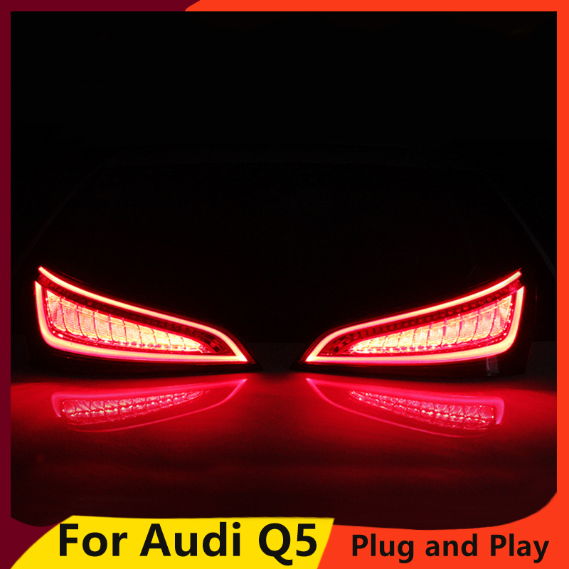 KOWELL Car Styling for Audi Q5 2009 2015 LED Tail Lamp rear trunk lamp cover drl