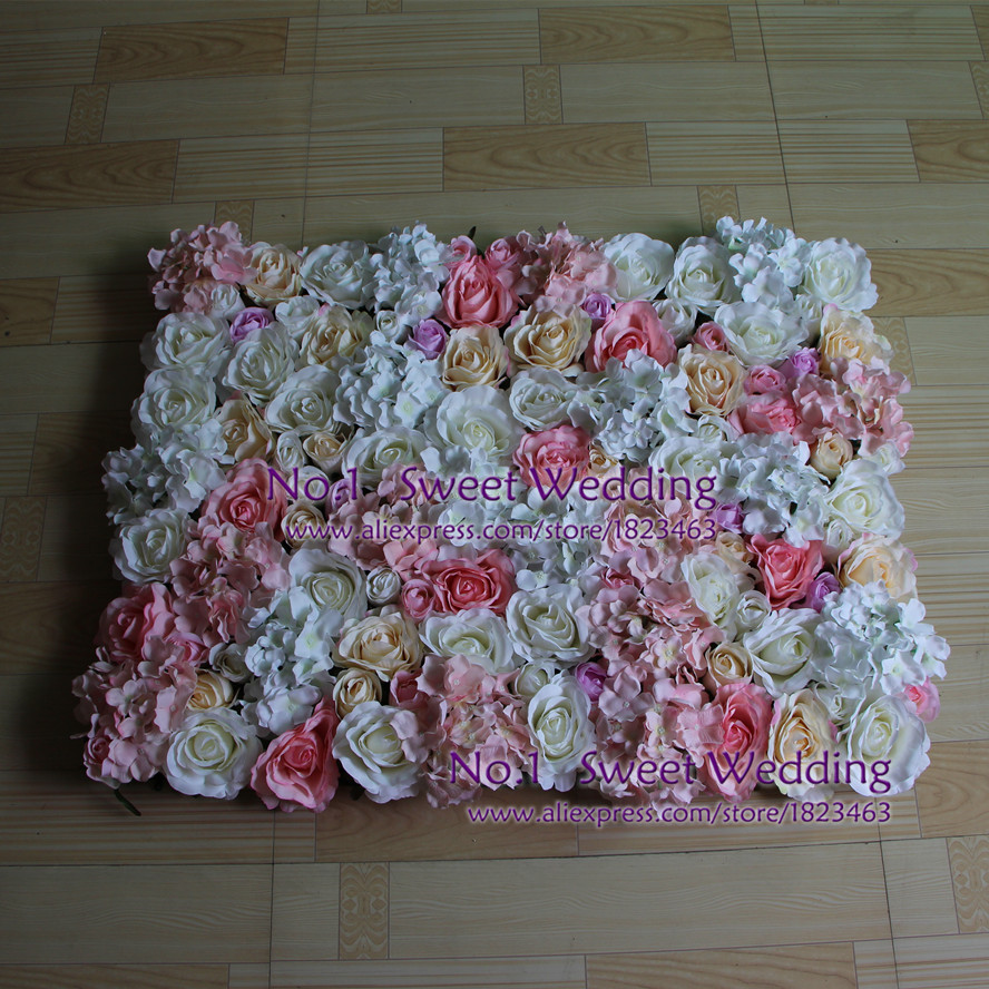 Flowers All Over Gulf Silk Flower Hydrangea White Pink Light Pink