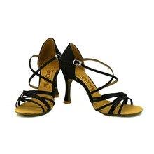YOVE LD 1007 Dance Shoes Satin Women s Latin Salsa Dance Shoes 3 25 Flare Heel
