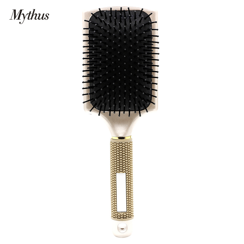 Professional Rubber Handle Paddle Hairbrush No Slip Air Bag Hair Massage Brush For Human And Wig Hair Styling Accessories Tools graceful short side bang fluffy natural wavy capless human hair wig for women