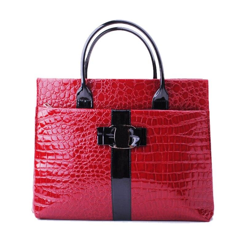 2017 New Luxury OL Lady Bags Handbags Women Crocodile Pattern Handbag Tote Fashion Lady PU Shoulder Handbag