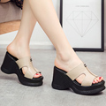 high heels sandals platform sandals wedges shoes women slippers sy-2016