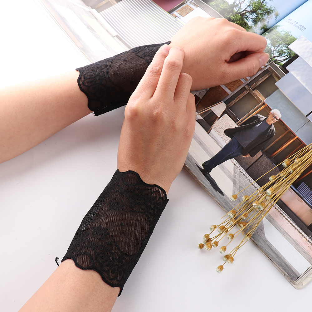 ZEBERY New Elegant Lace Arm Sleeves Breathable Bracers Anti-UV Sleeve Tide Scar Tattoo Woman Elastic Wrist Cover 8CM