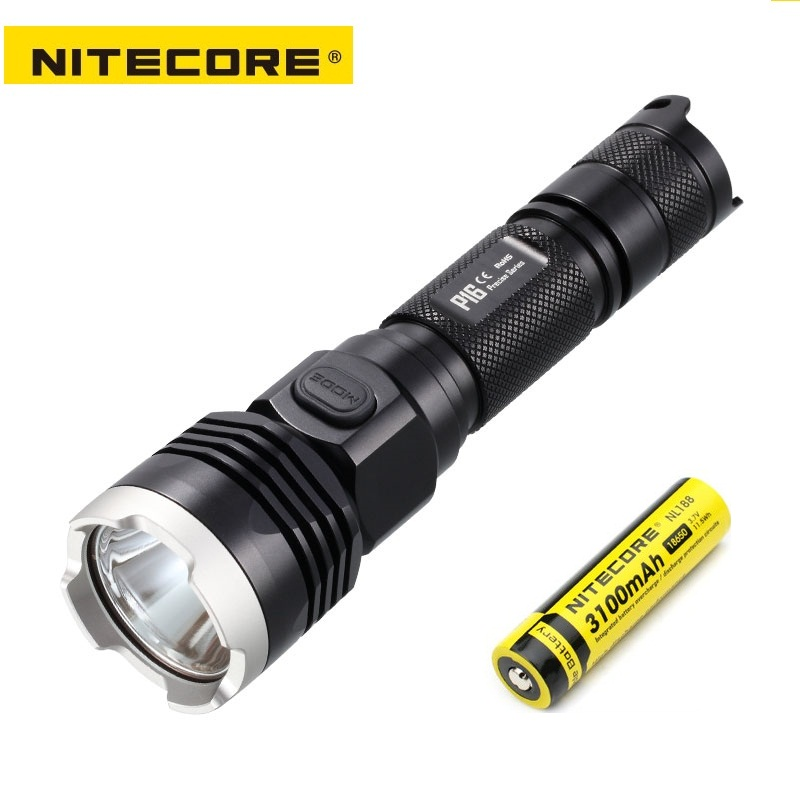 NITECORE P16 Cree XM-L2 T6 LED Flashlight 960 lumens Ultra High Intensity Tactical Flashlight with 1 x 18650 battery lumintop tactical flashlight p16x 18650 flashlight with battery with cree xm l2 led torch type max670 lumens