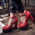 2016 новая коллекция весна женщин случайные туфли на каблуках сексуальные толстые каблуки платформы/европа женская обувь, женские насосы Dropshipping