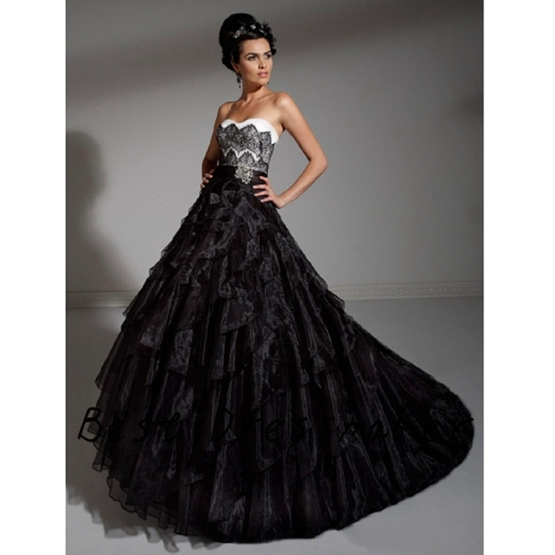 Black Halloween Wedding Dresses: Gothic Halloween Black Wedding Dress Lace 2016 Devil Night