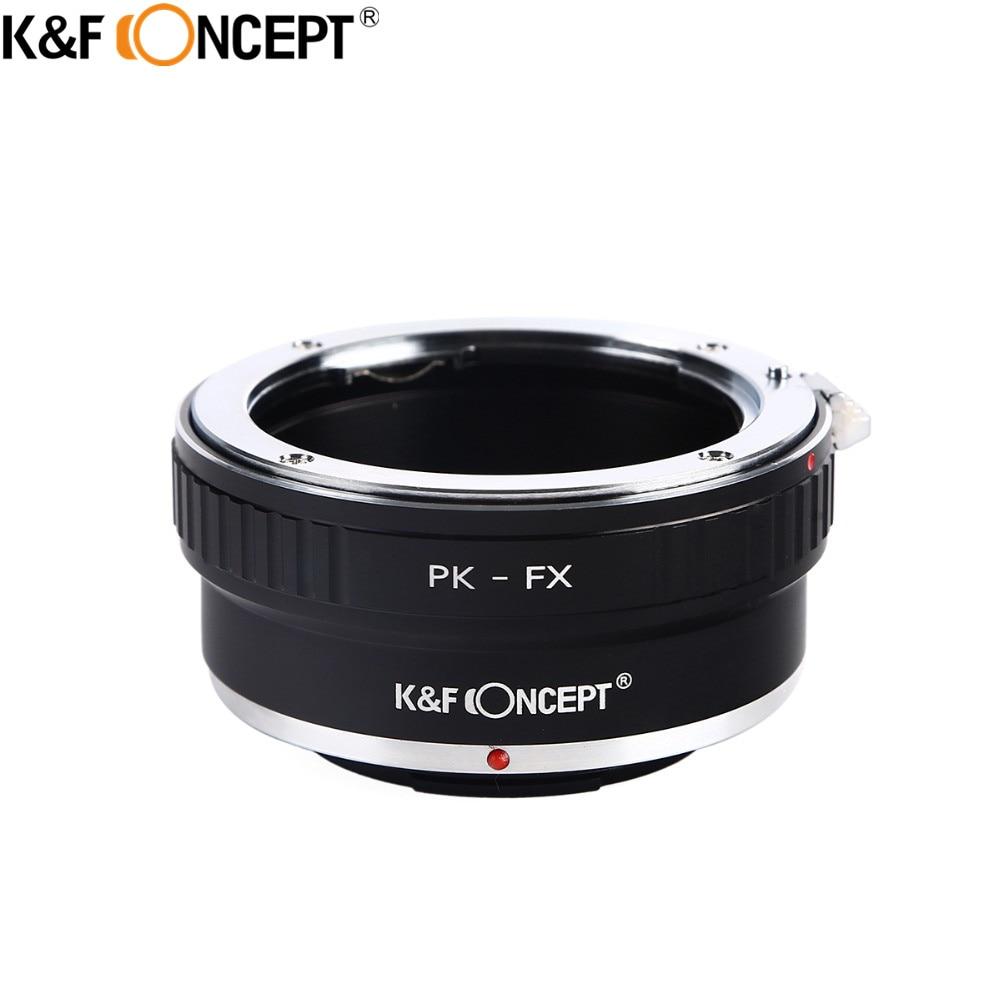 K & F CONCEPT PK-FX Camera Lens Adapter Ring pour Pentax K PK Mont Lens Pour Fujifilm X Mont Fuji X-Pro1 X-E1 X-M1 X-E2 M42 X-T1