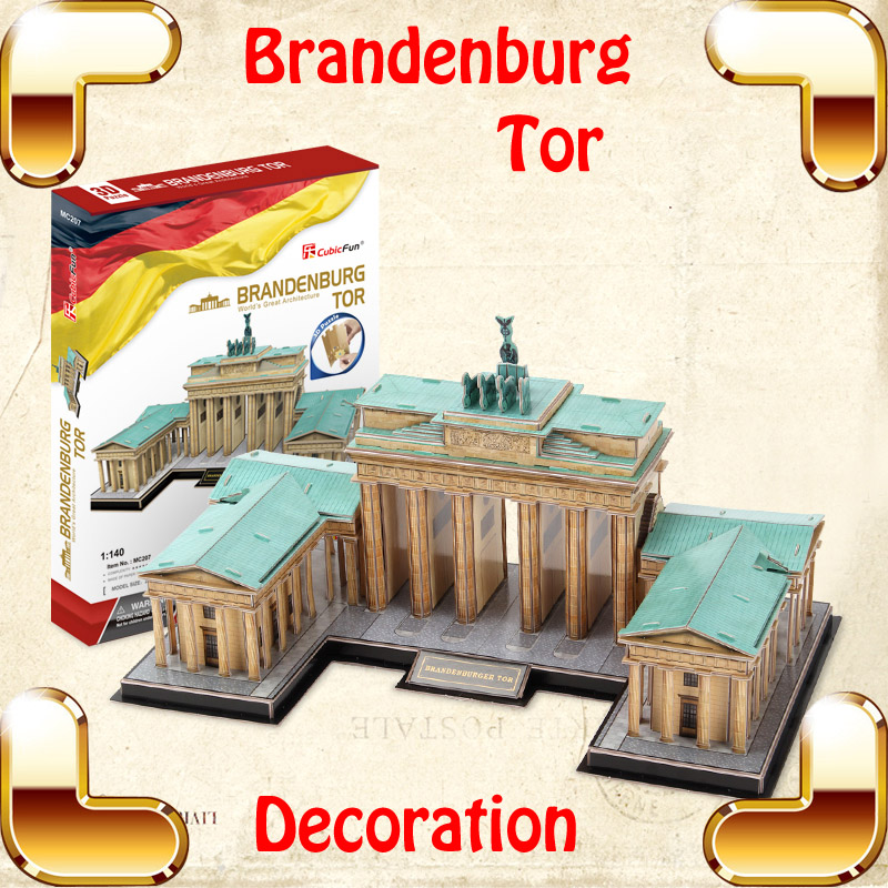 New Year Gift Brandenburg Tor 3D Puzzles Model DIY Decoration Assembly Toys Game Puzzle Adult Collection Children Education Toy