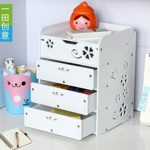 Creative Waterproof Desktop Storage Box Cabinet Drawer Type Multilayer  Storage Box Small Cabinet Drawers