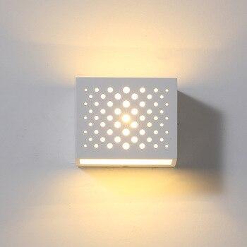 Гипсовый светодиодный настенный светильник, модный светильник для спальни, Настенный Бра, обеденная рядом с аппликацией, светильник Murale, со...